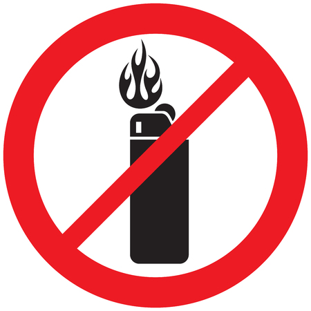 Lighter not allowed sign