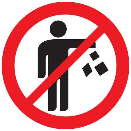 Nie zaśmiecaj znak