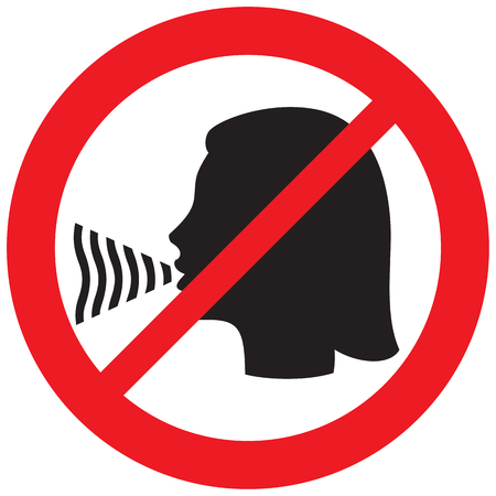 no talking sign Ilustração