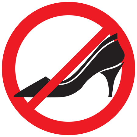 no high heel shoes sign (prohibition icon)