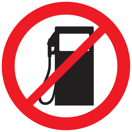 petrol station icon not allowed sign
