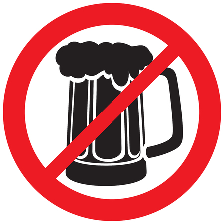 beer mug not allowed sign