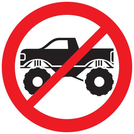 モンスタートラックはサインを許可されていません 写真素材 - 101211205