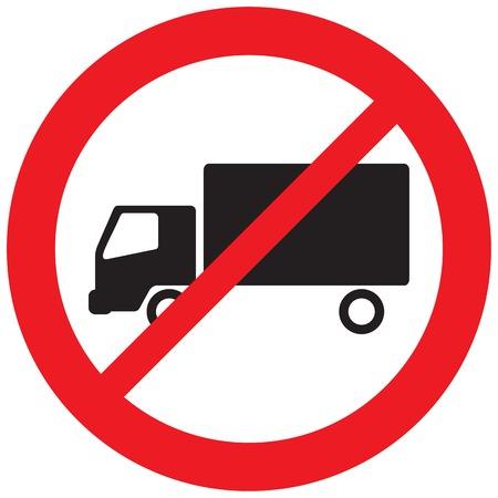 pas de panneau de camion (pas de symbole de stationnement, icône d'interdiction)