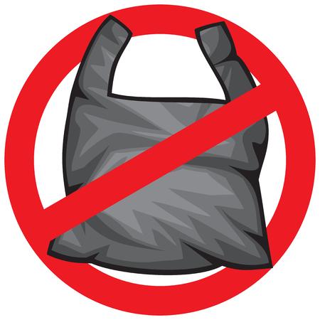 Nessun segno di spazzatura Vettoriali