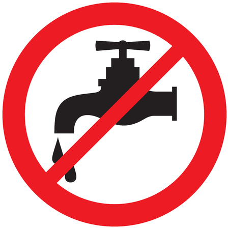 nessun simbolo del rubinetto dell'acqua Vettoriali