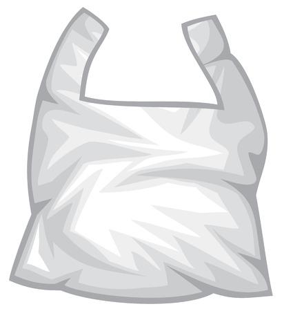 Pplastic trash bag vector illustration