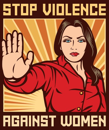 stop violence against women poster