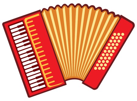 Akkordeon-Vektor-Illustration