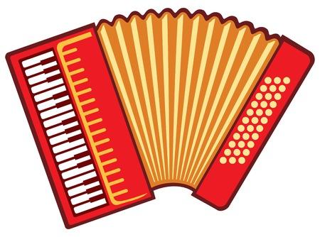 Ilustración de vector de acordeón