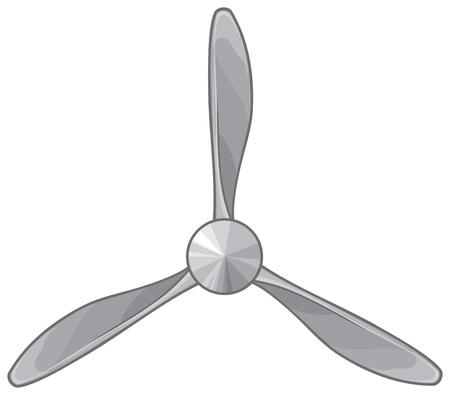 Illustration vectorielle d'hélice d'avion