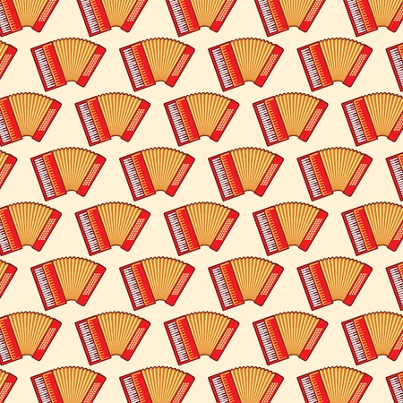 background pattern with classical accordions Vektorgrafik