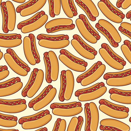 background pattern with hot dog