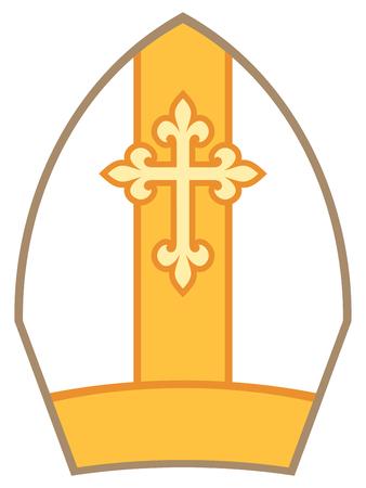 Bischof Mitra (Mitre) Vektor-Illustration Vektorgrafik