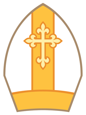 Bishop Mitre (Miter) vector illustration Иллюстрация