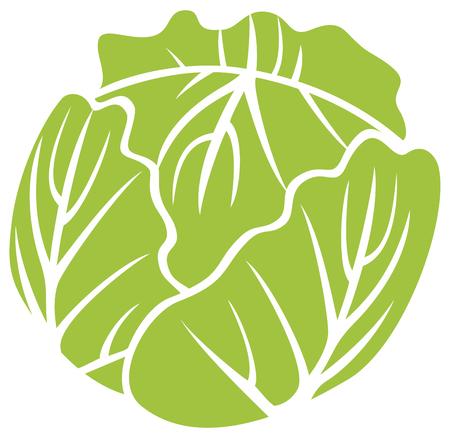 Grünkohl-Vektor-Symbol