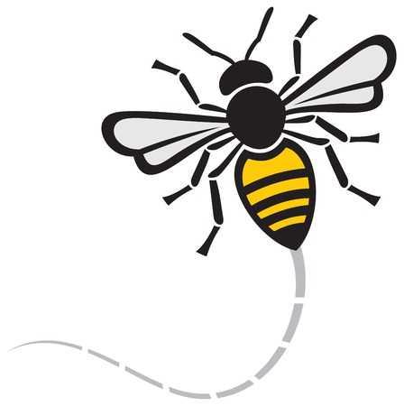 flying bee icon Illustration