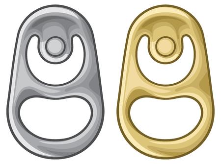anello di metallo di illustrazione vettoriale di lattina Vettoriali