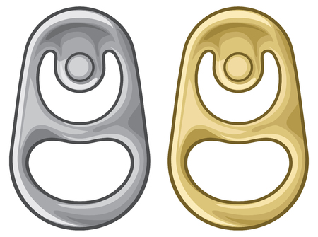 metal ring of can vector illustration
