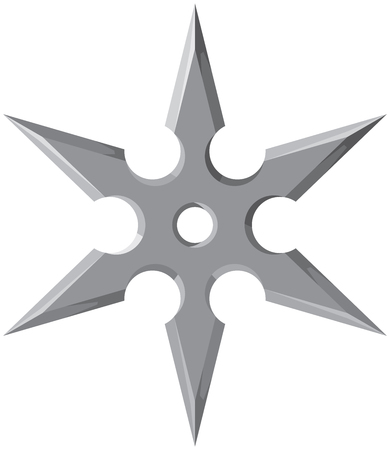 Ninja star – shuriken vector illustration