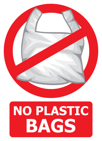 no plastic bags forbidden sign