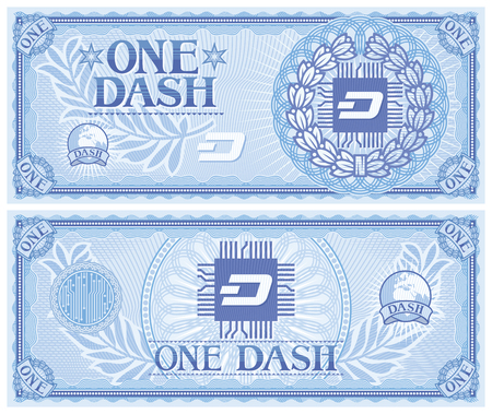 One DASH abstract banknote