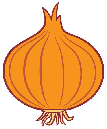 Zwiebel-Vektor-Symbol
