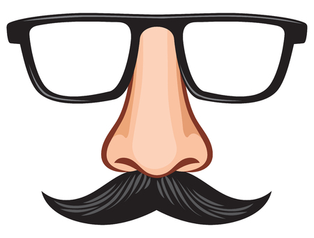 glasses and nose with mustache fake mask