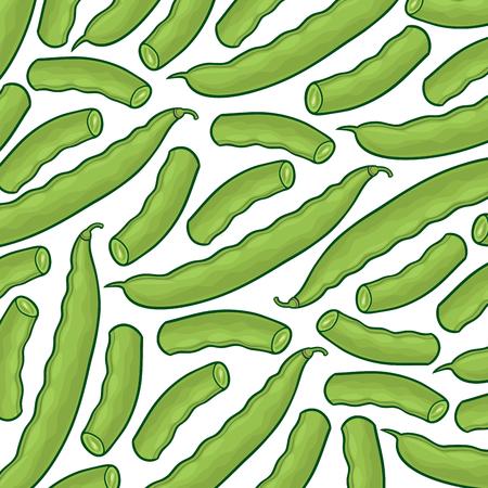 green peas background pattern Ilustracja