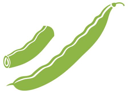 green peas vector icon