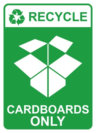 recycle vector sign - cardboards only