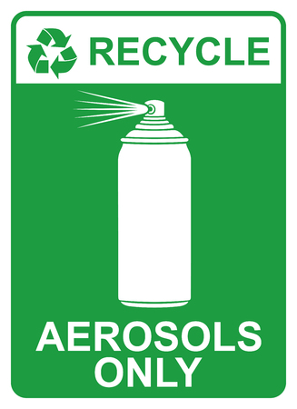 recycle vector sign - aerosols only Ilustracja