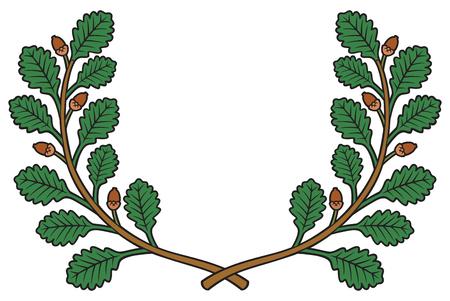 oak wreath vector illustration