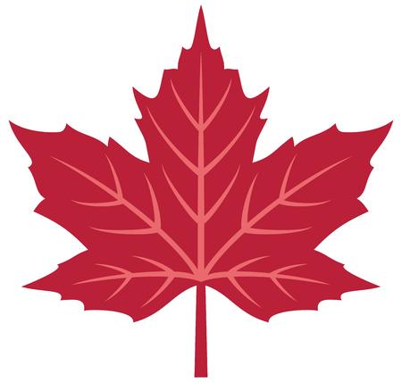 Red maple leaf vector illustration Ilustracja