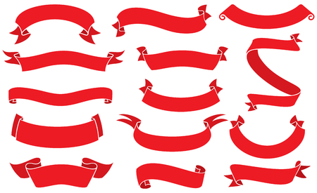 ribbon or banners vector set