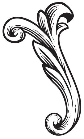 Baroque vintage element for design Ilustracja