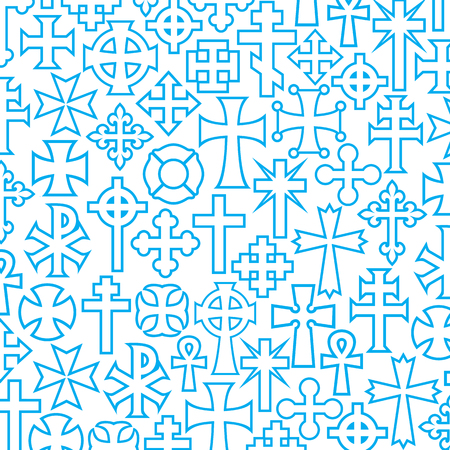 background pattern with vector crosses Illustration