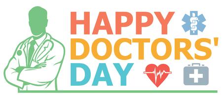 Happy doctors day design Ilustracja