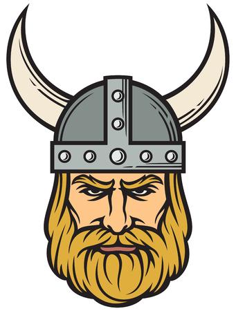 Viking head (mascot cartoon with horned helmet)