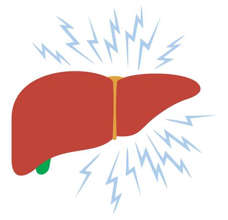 problem with liver vector illustration Ilustracja