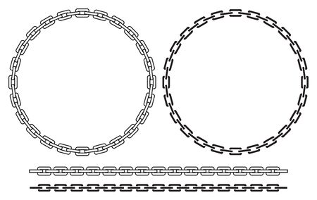 Chain frame (round) vector illustration