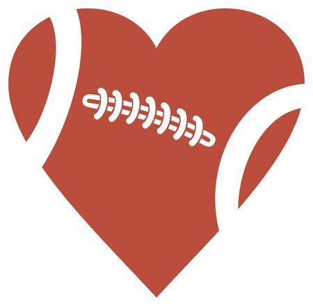 Illustration vectorielle de football coeur design