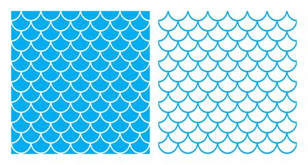 Seamless colorful fish scales (Mermaid background)