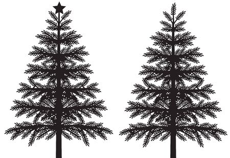 Christmas tree silhouette vector illustration 矢量图像
