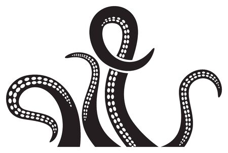 Octopus tentacles design - vector illustration
