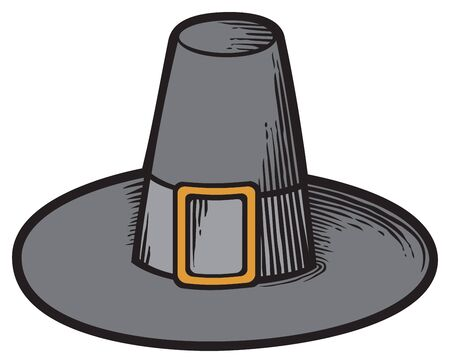 black pilgrim hat 矢量图像