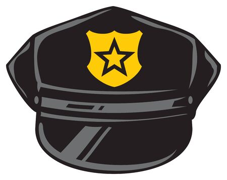 police hat vector illustration design