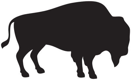 American bison (buffalo) vector icon 矢量图像