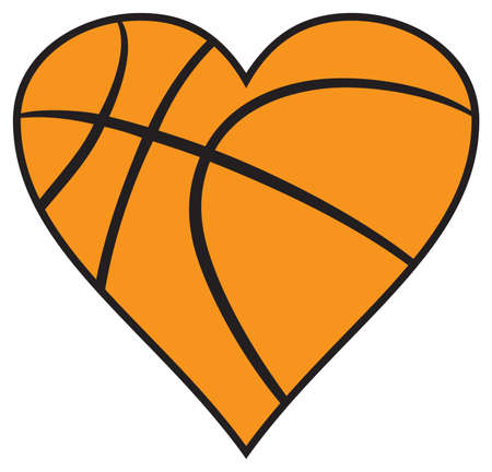 Basketball Heart icon vector deign