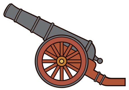 Ancient or pirate cannon vector illustration